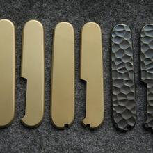 1 Pair DIY Brass Handle Scale for 91mm Victorinox Swiss Army Knife EDC Mod