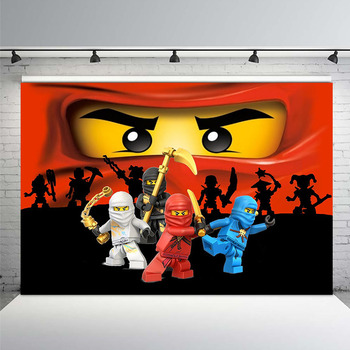 Background Photography Ninjago Backdrop Boys Birthday Party Photo 7x5ft Vinyl Booth Props
