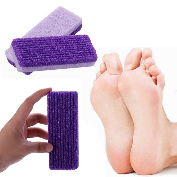 2pcs Cleansing Pumice Stone Exfoliating Foot Health Care Dead Skin Callus Corn Remover Pedicure Tools 1