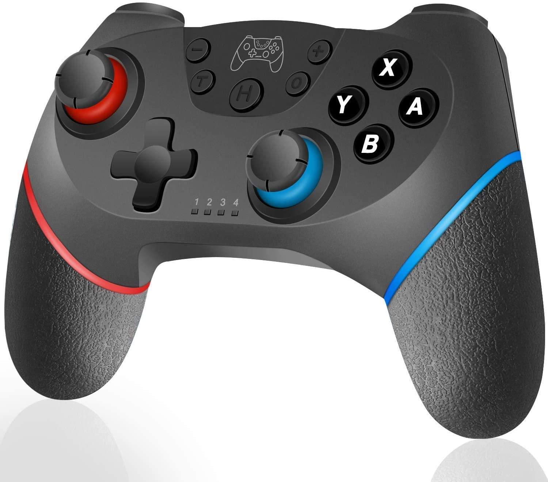 Обновленный Bluetooth геймпад для N-Switch, переключатель Pro контроллер беспроводной переключатель контроллер переключатель пульт дистанционного ...