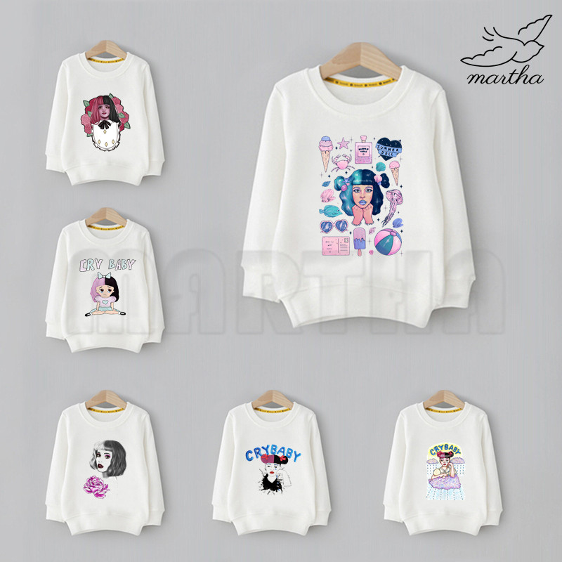 Melanie Martinez Cartoon Sweatshirts Children Hoodie Cute Print Fashion Sweatshirts Kid Funny Clothes Baby Cartoon Hoodies image