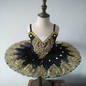 Image 4 - Ballerine Femme, Золотое кружево, классическое, для взрослых, для детей, профессиональное балетное платье пачка, голубое платье, танцевальный костюм для детей