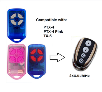 The remote For PTX4 Pink and Blue garage door barrier replacement remote rolling code 433.92mh