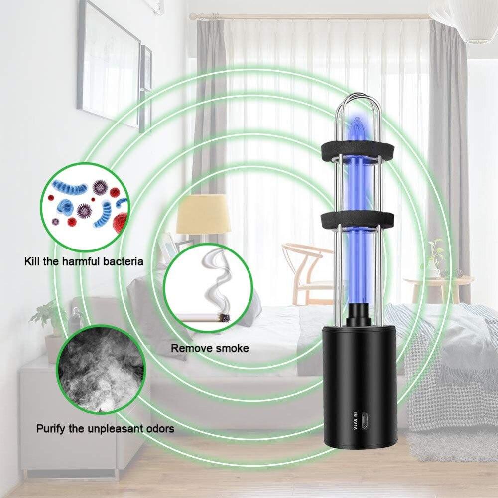 Rechargeable Ultraviolet UV Sterilizer Light Tube Bulb Disinfection Bactericidal Lamp Ozone Sterilizer Mites Lights