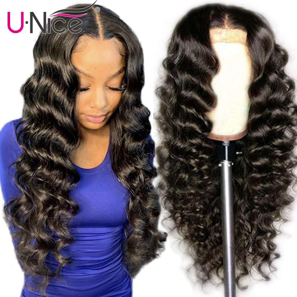 Unice Hair 13*4/6 Loose Deep Wave Lace Front Wigs 14-24 Inch Brazilian Remy Hair Lace Front Human Hair Wigs For Black Women