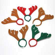 1PCS Decoration Cute Classic Red Green Antler Christmas Headdress Headband Cartoon Kids Adult Holiday Diy Party Gift G