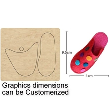 Baby Flip Flop Shoes DIY Cutting Mold Wood Dies For Leather Blade Rule Cutter For DIY Leather Cloth Paper Crafts цена 2017