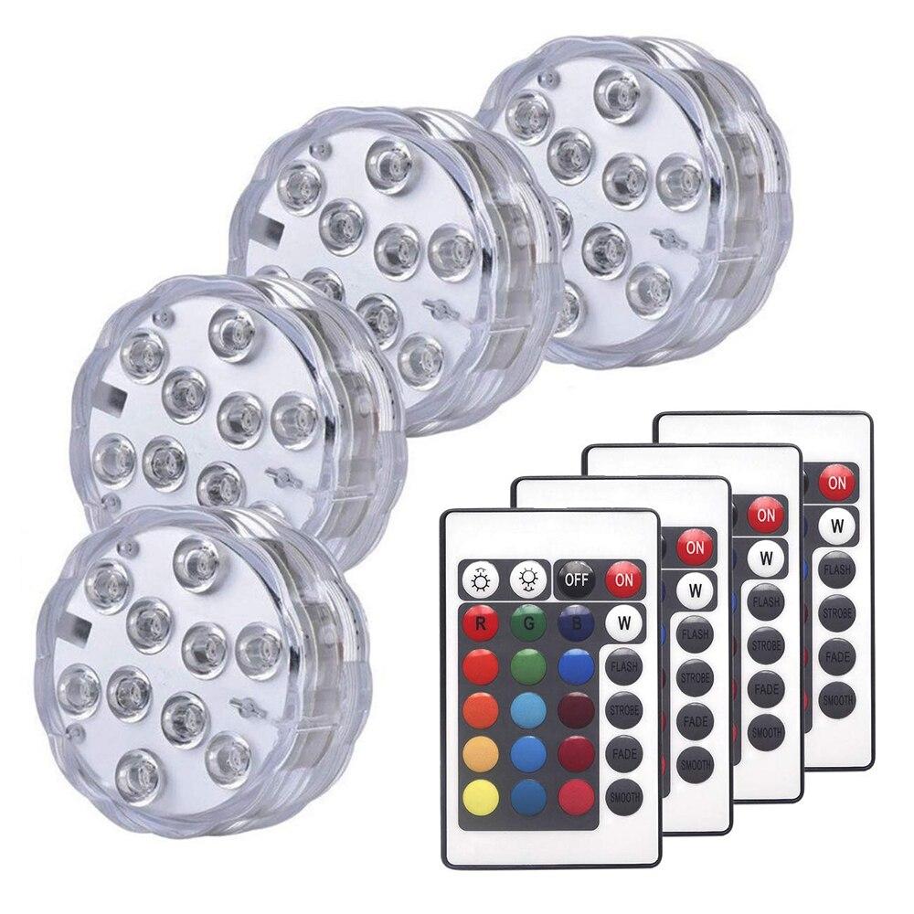 Погружной RGB светильник с дистанционным управлением, водонепроницаемый подводный s-образный светильник для пруда, бассейна, декоративные н...