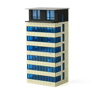 Image 2 - N Scale Outland Models Colored Modern City White Building Grand Apartment