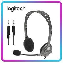 Logitech H110/H111 Stereo Headset mit Mikrofon 3,5mm Wired Kopfhörer Professionelle Kopfhörer für Laptop Desktop Spiel Arbeit