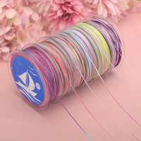 Многоцветная нейлоновая нить, 25 м/рулон, 0,8 мм, китайский Узелок, шнур макраме, плетеный браслет, DIY кисточки вышивка бисером, нить