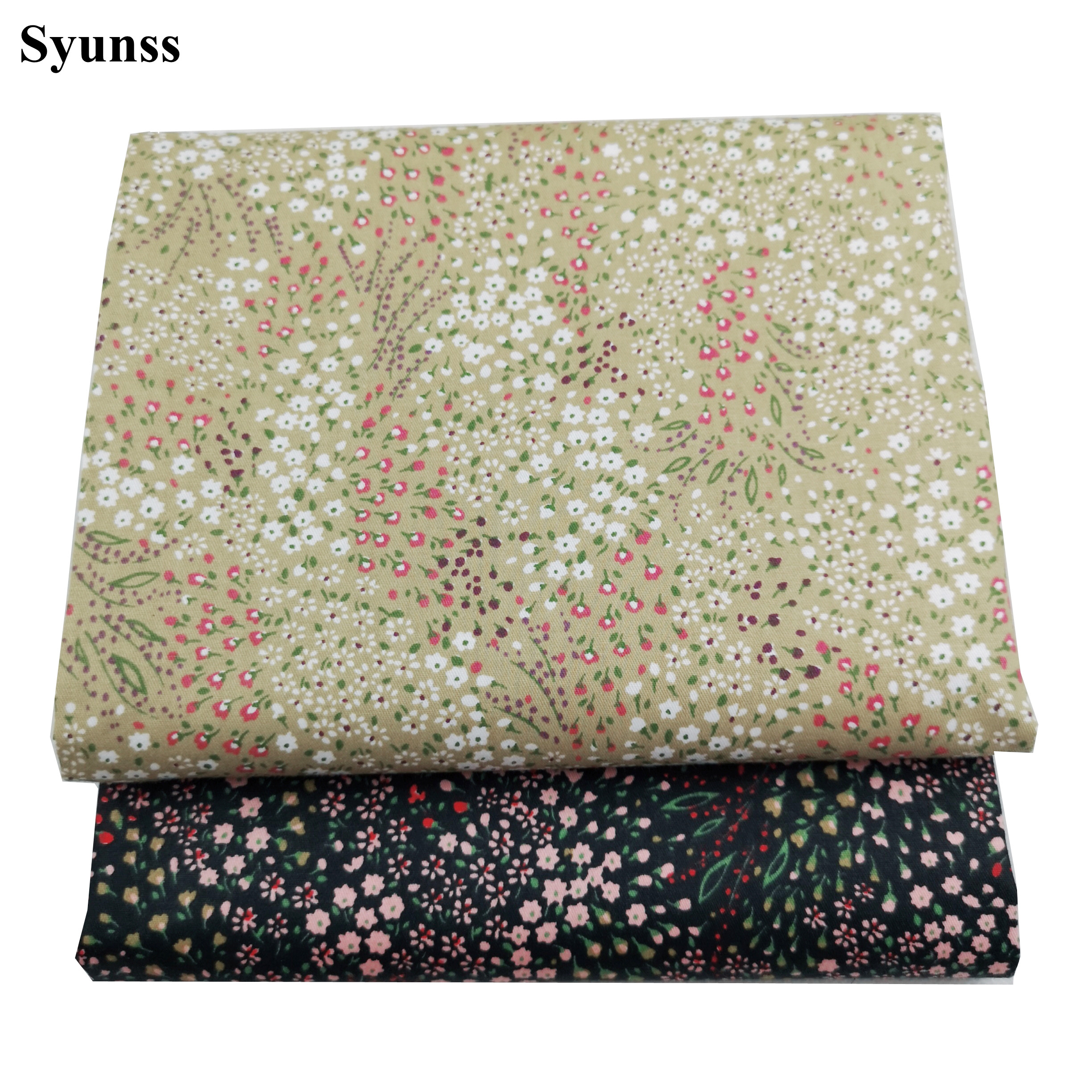 Syunss New Flower Printed Twill Cotton Fabric DIY Tissue Patchwork Telas Sewing Baby Toy Bedding Quilting Tecido The Cloth