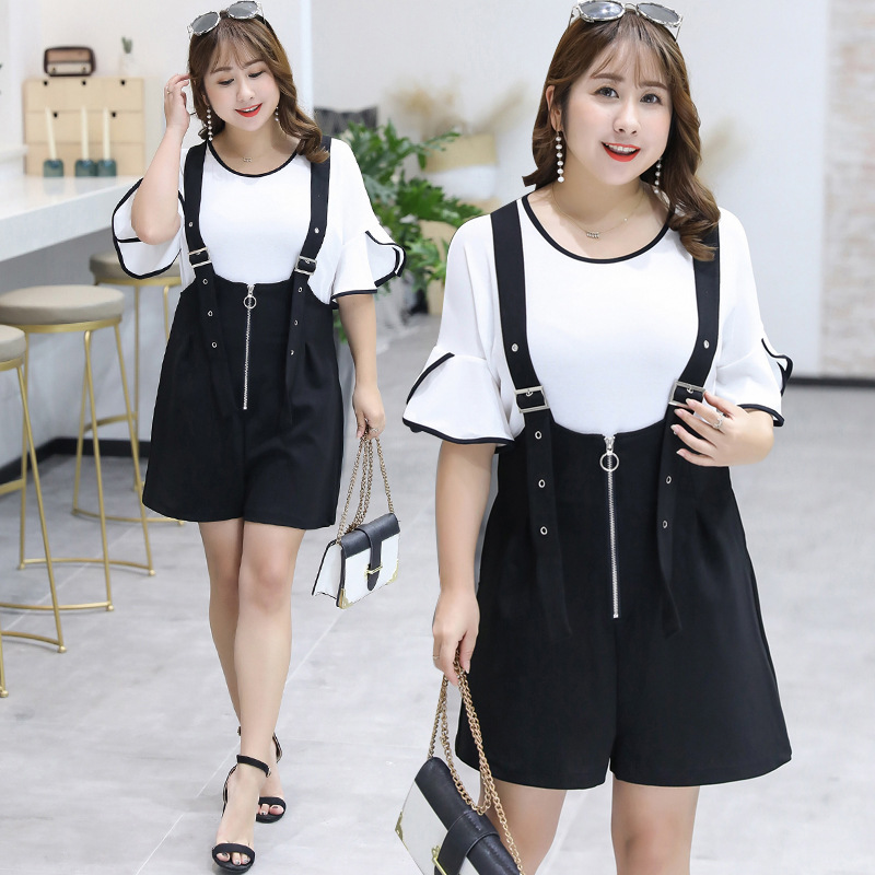 2019 Summer New Products Large Size Dress Elegant Two-Piece Set Suspender Pants Playful By Age Set On Behalf Of 6669