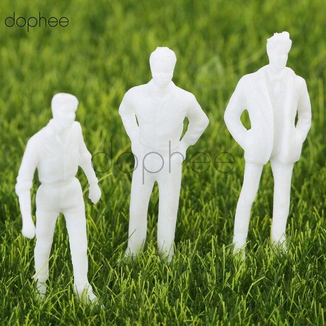Dophee 100 sztuk 13mm 18mm model miniaturowe białe figurki model architektoniczny ludzkiej skali HO model ABS plastikowe ludzi 1:100 1:150