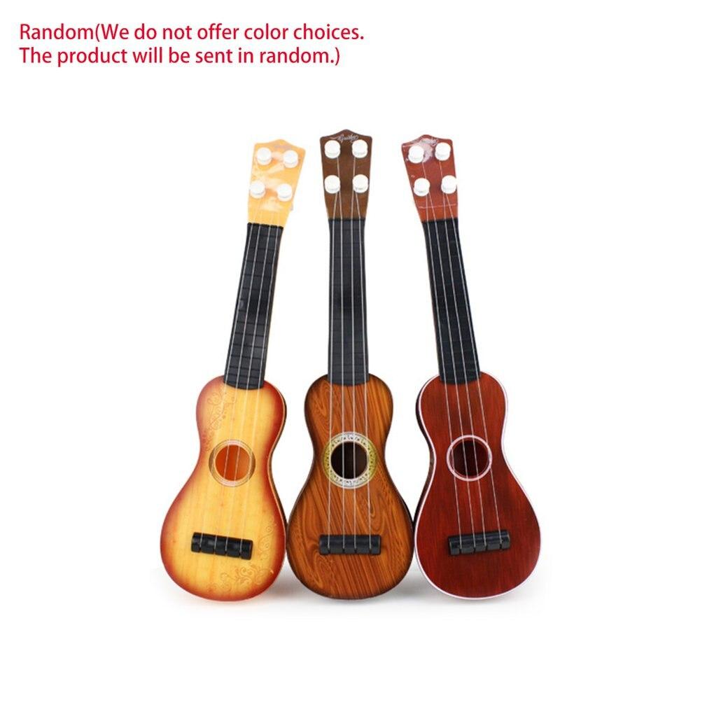 21 Inch Ukulele Beginner Hawaii 4 String Nylon Strings Guitar Musical Ukelele Toys For Children Kids Girls Christmas Gift Random