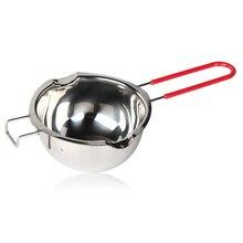Верх-Универсальный плавильный котел из нержавеющей стали, двойная вставка бойлера, двойные носики, термостойкая ручка, плоское дно, оплавленный Бутт