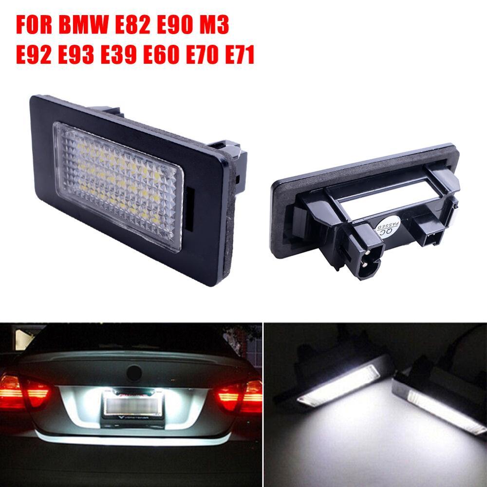 2 Pièces 24 PLAQUE DIMMATRICULATION LED Nombre Lumières Pour BMW E90 M3 E92 E70 E39 F30 E60 E61 E93