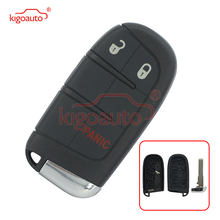 цена на Kigoauto Smart key shell cover case 3 button for Dodge Journey Durango Jeep Grand Cherokee 2011 2012 2013 2014 2015 M3N-40821302