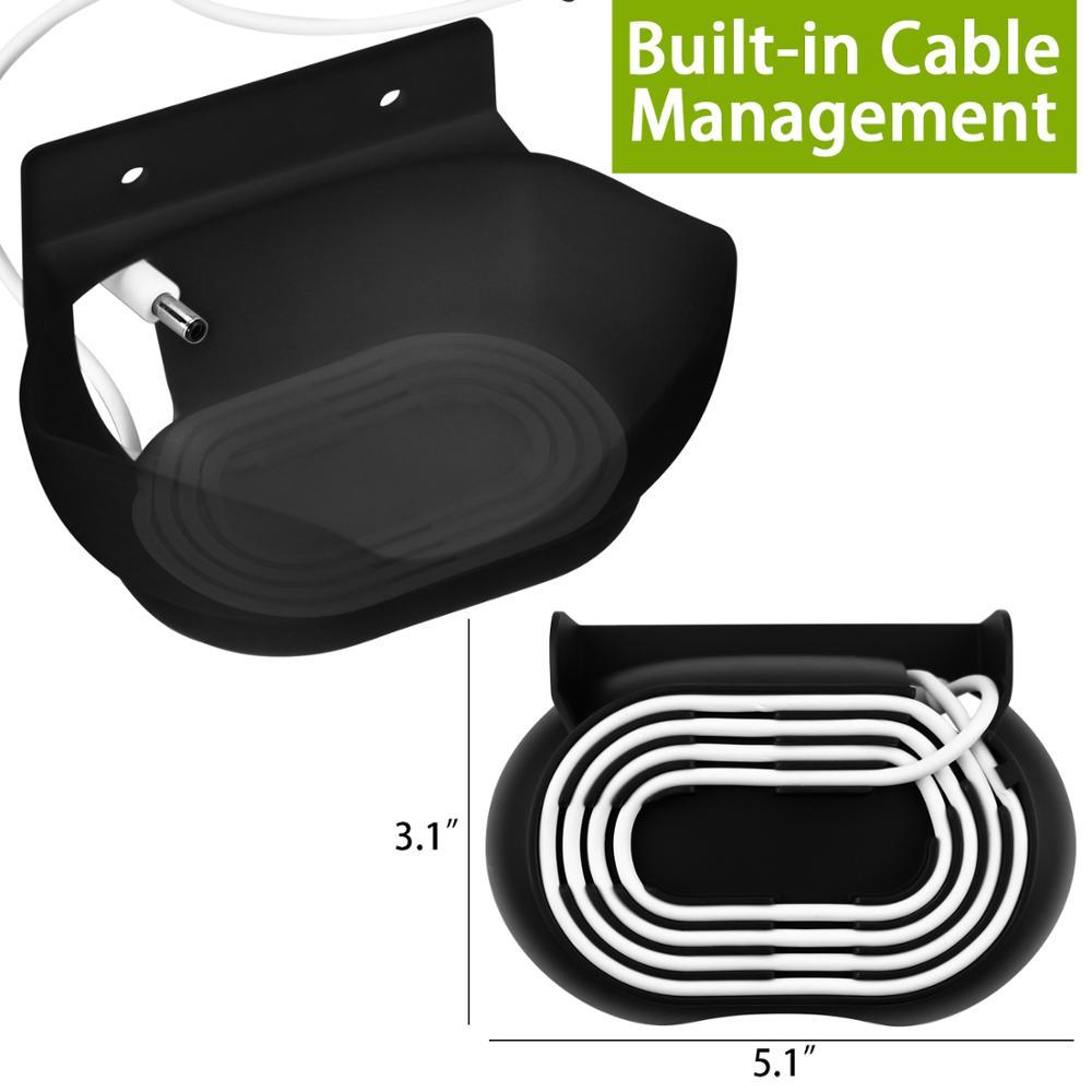 Wall Mount / Bracket for Google Nest Audio Speaker - Built in Cord Management Stable Stand Smart Speaker Holder Accessories 3
