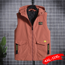 Waistcoat Oversize Cargo-Jackets Hooded Loose Warm Plus-Size Thick Winter Women Sleeveless