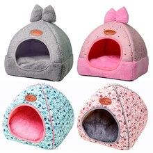 Домик для маленькой собаки питомник кровать коврик кошка одеяло палатка для животных раскладывающаяся, чтобы быть утолщенным зимним питомцем матрац для кровати фланелевая ткань теплая