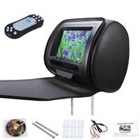 With Zipper Cover 7Inch Car Headrest Speaker Video Monitor HD LCD Screen Adjustable Game Infrared USB DVD Player Car Dispaly MP5