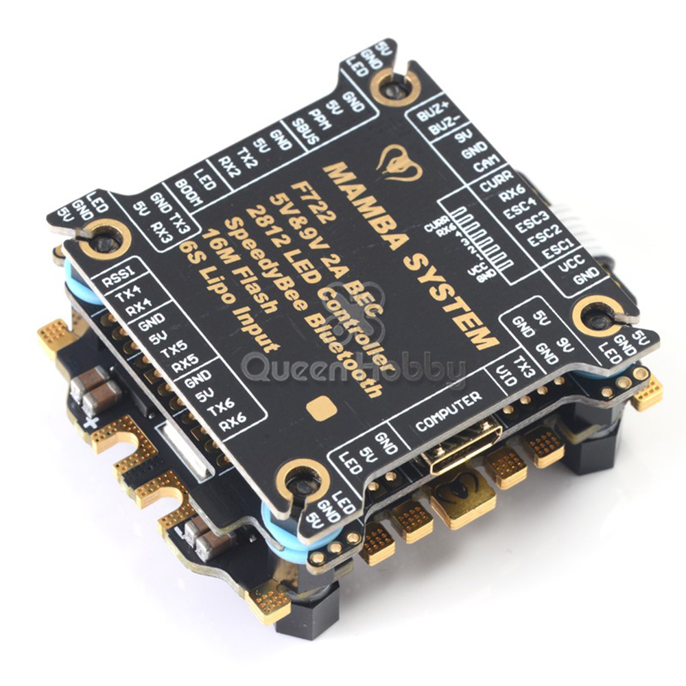 Diatone <font><b>MAMBA</b></font> <font><b>F405</b></font> <font><b>Mini</b></font> MK2/ F722/ F722S Betaflight Flight Controller &506 50A 3-6S Dshot1200 4 in1 ESC For RC Drone Parts image