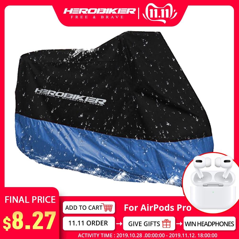HEROBIKER Motorcycle Cover Bike All Season Waterproof Dustproof UV Protective Outdoor Indoor Moto Scooter Motorbike Rain Cover