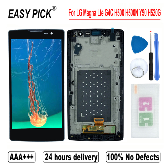 Display LCD Touch Screen Digitizer Assembly Strumenti Gratuiti Per LG Magna Lte G4C H500F H502F H500R H500N H500 Y90 H520G