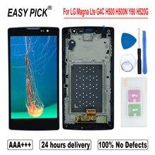 จอแสดงผลLCD TOUCH Digitizer ASSEMBLYเครื่องมือฟรีสำหรับLG Magna LTE G4C H500F H502F H500R H500N H500 Y90 H520G