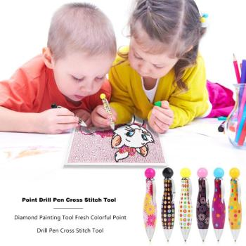 Professional Diamond Painting Tool Cute Point Drill Pen Diamond Embroidery Accessory Diamond Painting Cross Stitch