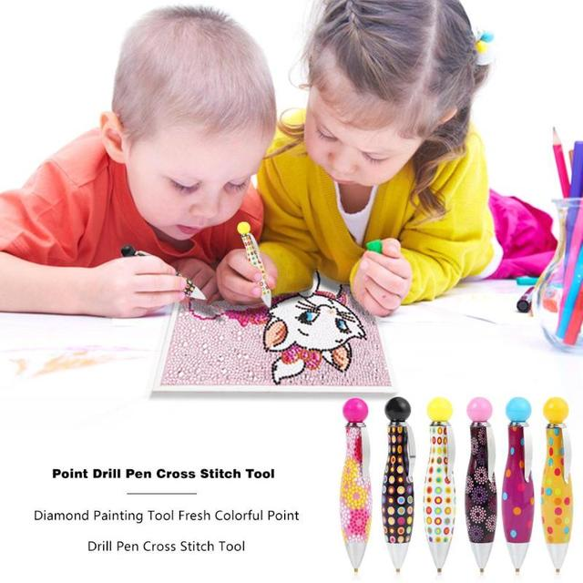 Professional Diamond Painting Tool Cute Point Drill Pen Diamond Embroidery Accessory Diamond Painting Cross Stitch Tool