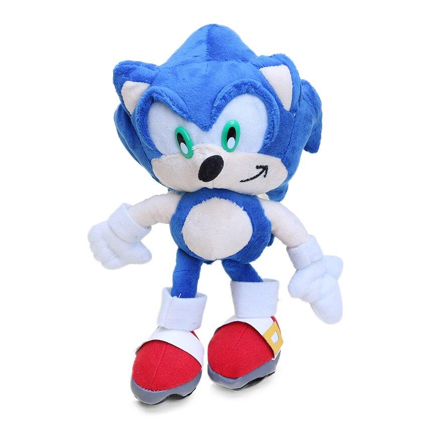 4pcs 20 27cm Silver Blue Sonic The Hedgehog Plush Toy Super Sonic The Hedgehog Plush Tails Soft Stuffed Dolls Keyring Keychain