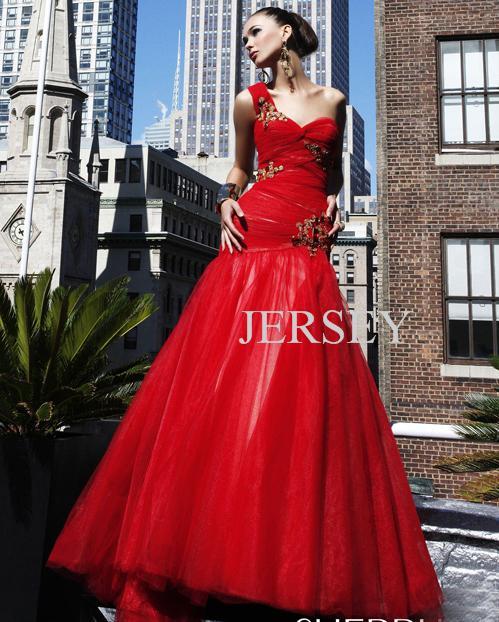 free shipping 2016 plus size black dress vestidos formal dresses floor length red long tulle dress one shoulder evening dresses