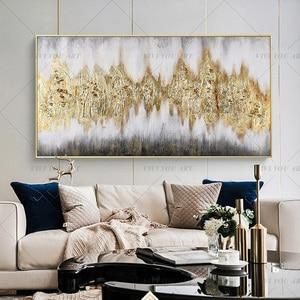 Image 5 - גדול 100% בעבודת יד מופשט בד קיר אמנות מודרני שמן ציור על Cnavas עכשווי דקור יצירות אמנות בית מלון משרד דקור