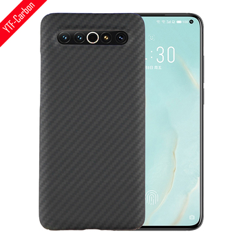 YTF-carbon Real carbon fiber case For Meizu 17 pro case Aramid fiber Phone cover light thin Protective shell Meizu 18 pro 1