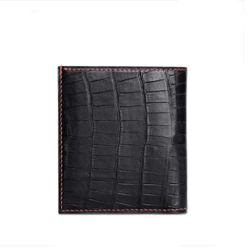 gete new  The americas  crocodile  The wallet  male  Brief paragraph  real thing  Pure manual  fashion  business  men wallet