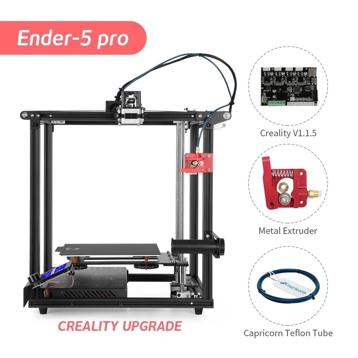 Build-Plate Silent-Board 3d-Printer Ender-5 CREALITY Structure Magnetic New Pro Pre-Installed title=