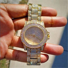 Iced Out Watches Luxury Date Quartz Wrist Mens Watches With