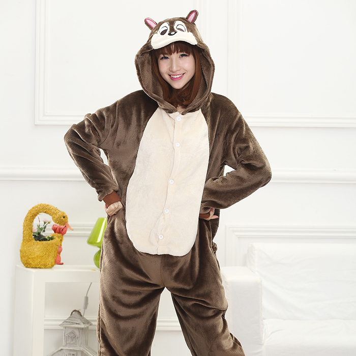 Women Anime Cosplay Kigurumi Onesie Adult Funny Animal Sleepwear For Man Loose Warm  Pajamas Jumpsuit Winter Funny Onepiece