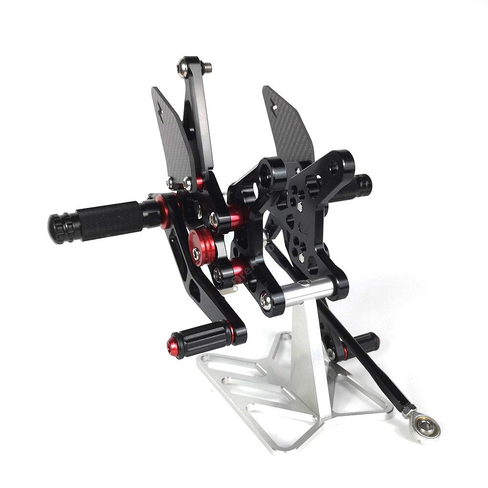 Zx6r zx 6r подставка для ног мотоцикла регулируемая педаль с