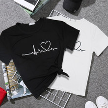 2020 New Harajuku Love Printed Women T-shirts Casual Tee Tops Summer Short Sleeve Female T shirt for Women Clothing(China)