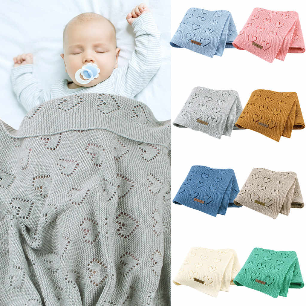 2020 HOt Baby Blankets Knitted Newborn Swaddle Wrap Soft Toddler Sofa Crib Bedding Quilt Winter Autumn Baby Stroller Blanket
