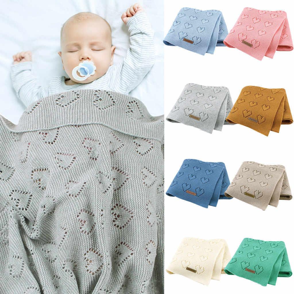 2020 mantas de bebé calientes de punto recién nacido envoltura suave niño sofá cuna ropa de cama edredón invierno otoño bebé cochecito Manta