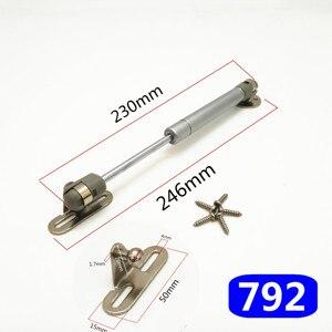 Image 1 - 8 zoll 30N/100N Möbel Scharnier Küche Schrank Tür Aufzug Pneumatische Unterstützung Hydraulische Gas Frühling Bleiben Halten Pneumatische hardware