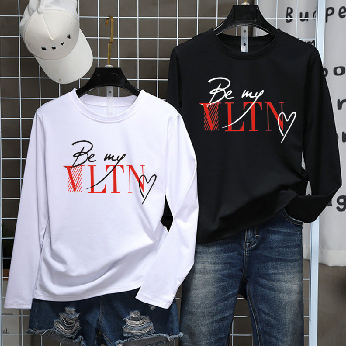 Letter Print Be My 2019 Women's Brands Tees Casual Long Sleeve Shirt Women Vintage Tops Harajuku Full Size M-xxl