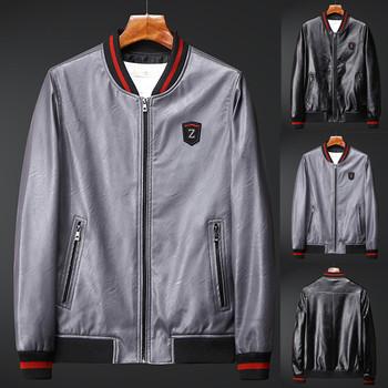 Męskie kurtki okazjonalne płaszcze męskie jesień na co dzień kurtki męskie kurtki zamek Patchwork cienkie kurtka z imitacji skóry płaszcz jaqueta tanie i dobre opinie ISHOWTIENDA Pasuje prawda na wymiar weź swój normalny rozmiar Oddychające Jackets Mens Mens Casual Jackets Coats chaqueta hombre