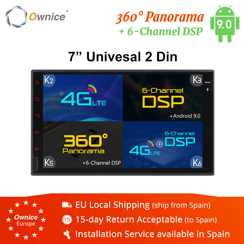 Ownice K3 K5 K6 Octa Core Android 9.0 2 din universel voiture DVD 4G SIM LTE DSP réseau DAB + lecteur Radio GPS Navi dvd 360 Panorama