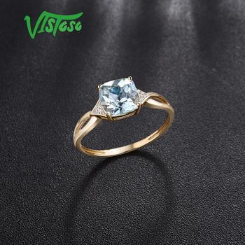 585 Yellow Gold Blue Topaz Ring 3