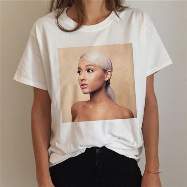 Ariana Grande T Shirt Women 7 Rings Fashion Harajuku Thank U,Next Tshirt 90s Hip Hop Short Sleeve Ullzang T-shirt Top Tee Female